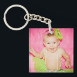 "Baby Photo Keepsake Keychain<br><div class=""desc"">Baby photo keepsake- change place holder photo to a picture of your own child.</div>"