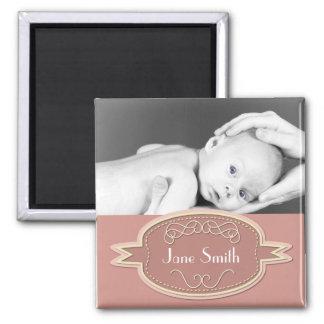 Baby Photo Keepsake - Pink Magnet