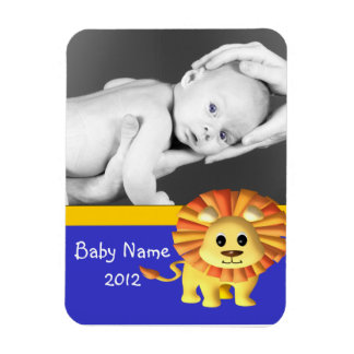 Baby photo/ Lion Magnet