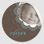 BABY PHOTO NAME STICKER :: sweet bloom 1