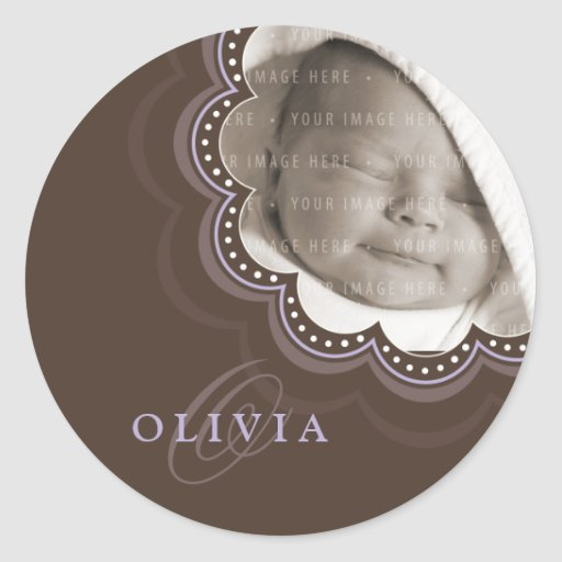 BABY PHOTO NAME STICKER :: sweet bloom 3