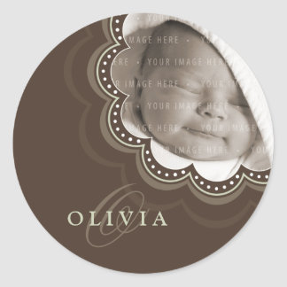 BABY PHOTO NAME STICKER :: sweet bloom 5