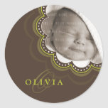 BABY PHOTO NAME STICKER :: sweet bloom 8