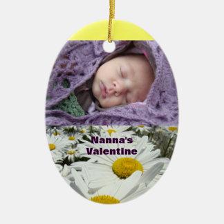 Baby Photo ornaments Nanna's Valentines