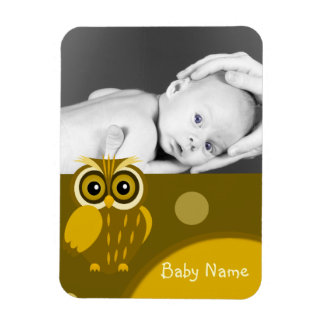 Baby photo/ Owl Magnet