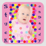 Baby Photo T-shirts Customize Square Sticker