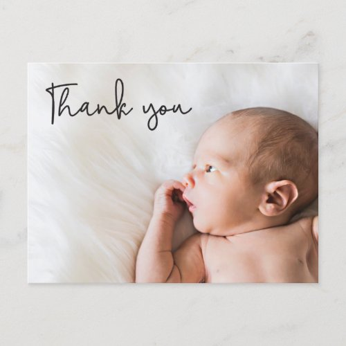 Baby Photo thank you Script Birth Announcement Postcard