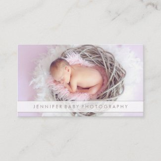 Baby Photography Overlay Newborn Business Card