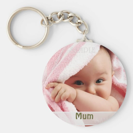 Baby Picture For Mum, Key Ring Gift Keychain