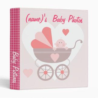 Baby Pictures - Pink Vinyl Binder