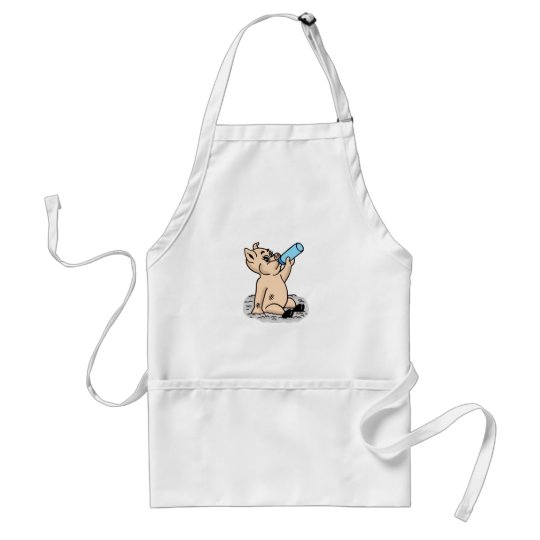 Baby Pig Cartoon Adult Apron