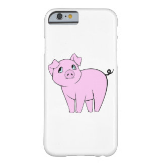 Baby Pig, Cute Little Piggy - Pink Black Barely There iPhone 6 Case