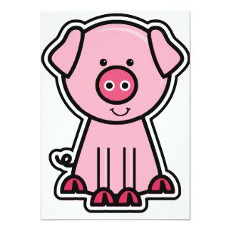 Baby Pig Sticker Card