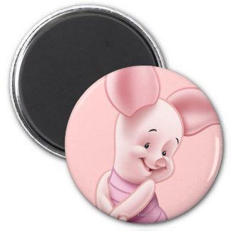 Baby Piglet 2 Inch Round Magnet