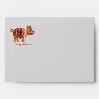 Baby Piglet :  Painted Animal Art Envelope