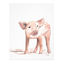 Baby piglet pig art letterhead