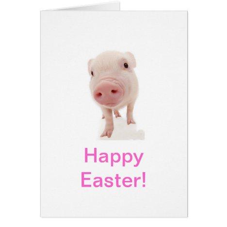 Baby Piglet Pig Easter Card