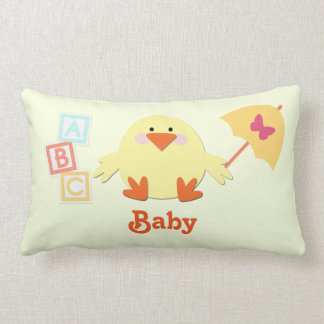 Baby Pillow with Chick, ABC Blocks, and Umbrella