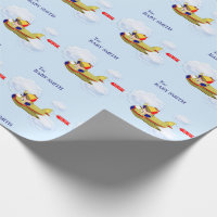 Baby Pilot Wrapping Paper
