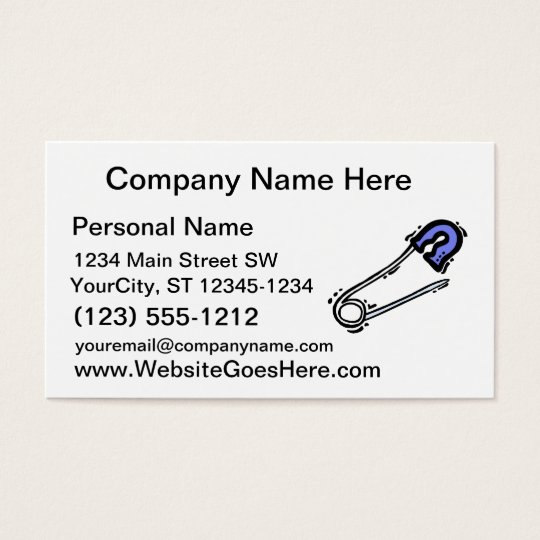 baby pin graphic blue business card