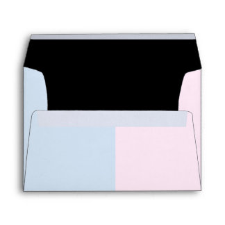 Baby Pink and Baby Blue Linen Envelopes