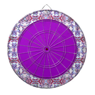 Baby Pink and Blue Cloud Pattern Dartboards