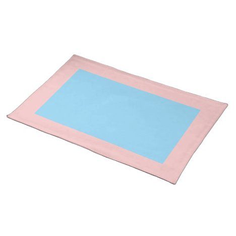 Baby Pink and Blue Placemat