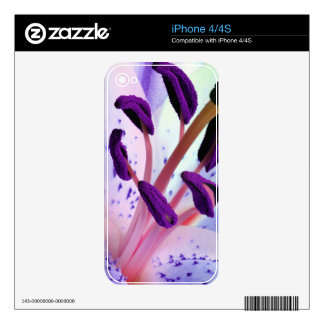 Baby Pink and Purple Tiger Lily Flower iPhone 4 Skin
