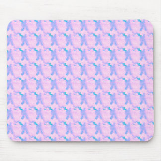 Baby Pink And Royal Blue Brush Strokes Patterns Mouse Pad