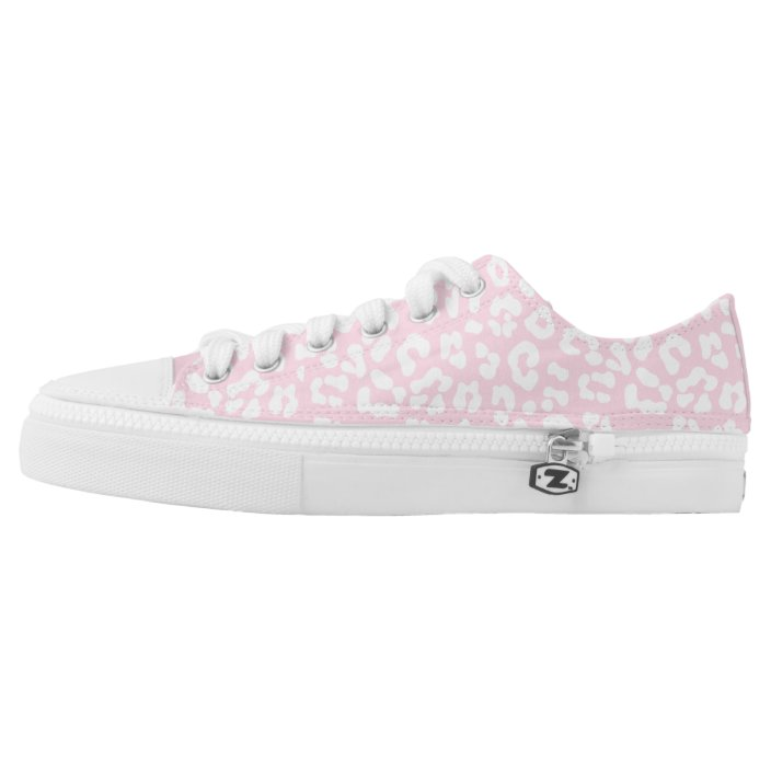 Baby pink and White Leopard Print Low