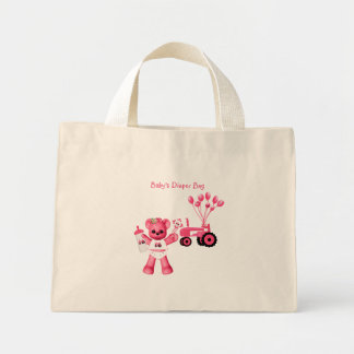Baby Pink Bear and Pink Tractor Bag