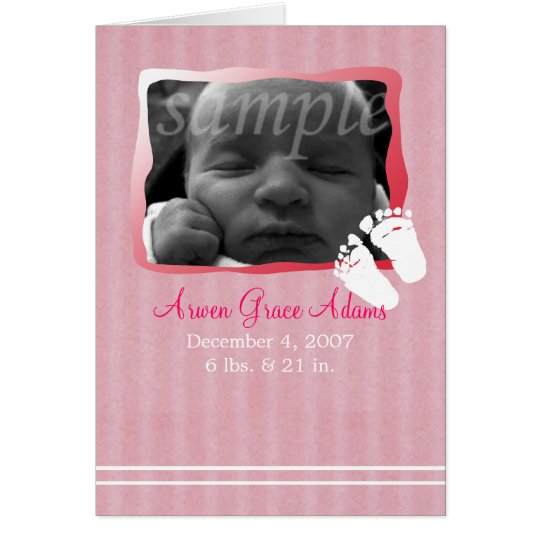 Baby Pink Birth Announcement -- Customize