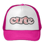 Baby Pink Camo; Camouflage Mesh Hats