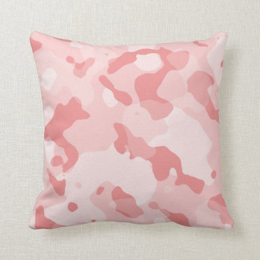 Camo Couch Throw Pillows : Baby Pink Camo; Camouflage Throw Pillow Zazzle