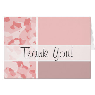 Baby Pink Camo; Personalized Stationery Note Card