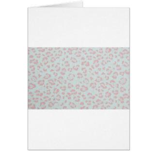 baby pink cheetah animal jungle print card