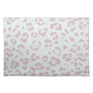 baby pink cheetah animal jungle print cloth placemat