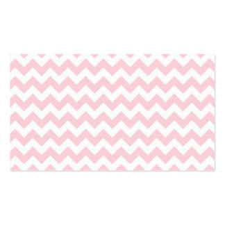 Baby Pink Chevron Business Card Template