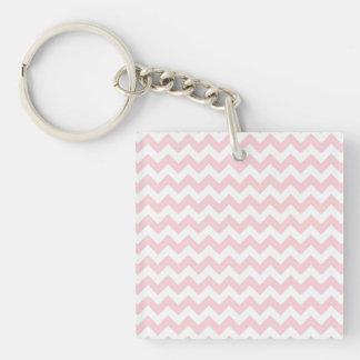 Baby Pink Chevron Keychain