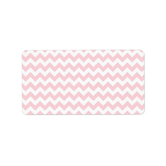 Baby Pink Chevron Label