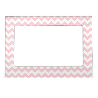 Baby Pink Chevron Magnetic Picture Frame