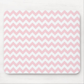 Baby Pink Chevron Mouse Pads