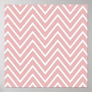 Baby Pink Chevron Pattern 2 Print