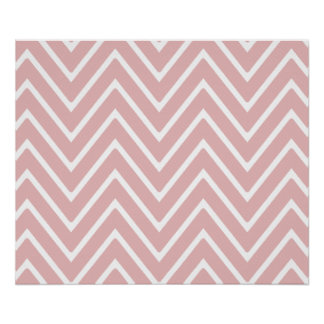 Baby Pink Chevron Pattern 2 Posters