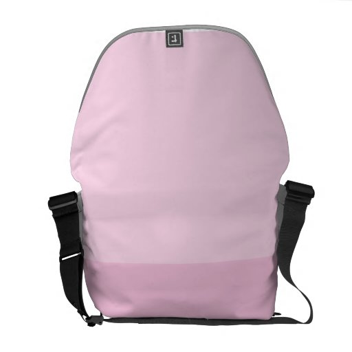 Baby pink courier bag