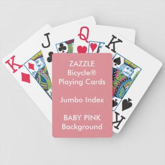 BABY PINK Custom Bicycle Jumbo Index Playing Cards