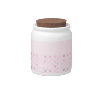 Baby Pink Dots Candy Jar