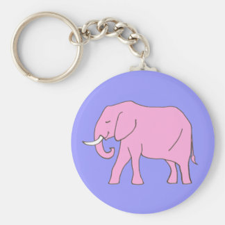 Baby Pink Elephant Walking Keychain