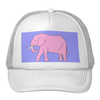 Baby Pink Elephant Walking Trucker Hat