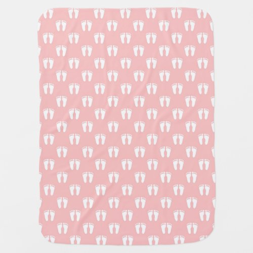 Baby Pink Feet Swaddle Blanket